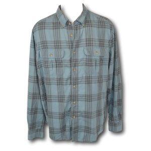 Eddie Bauer Plaid Blue Button Down Shirt